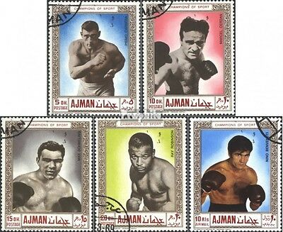 Ajman 382A-386A (complete issue) used 1969 Boxing