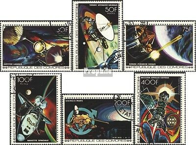 Comoros 369A-374A (complete issue) used 1977 great Space Projec