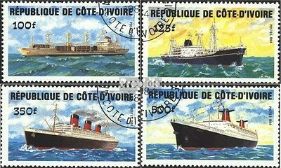 The Ivory Coast 830-833 (complete issue) used 1984 Vessels