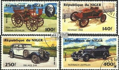 Niger 892-895 (complete.issue) used 1984 Cars