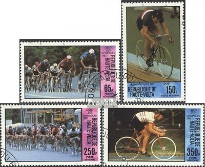 Upper Volta 795-798 (complete issue) used 1980 Olympics Summer