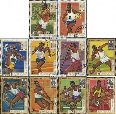 Burundi 446A-455A (complete issue) used 1968 olympic. Games ´68