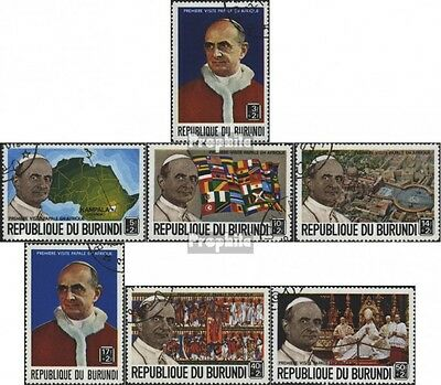 Burundi 506A-512A (complete issue) used 1969 first Popes visit