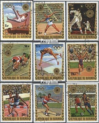 Burundi 858A-866A (complete issue) used 1972 olympic. Games ´72