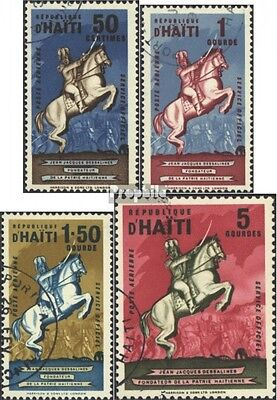Haiti D6-D9 (complete issue) used 1962 service mark: Dessalines