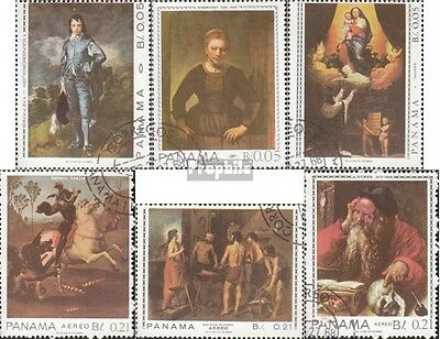 Panama 997-1002 (complete issue) used 1967 Self famous Painters
