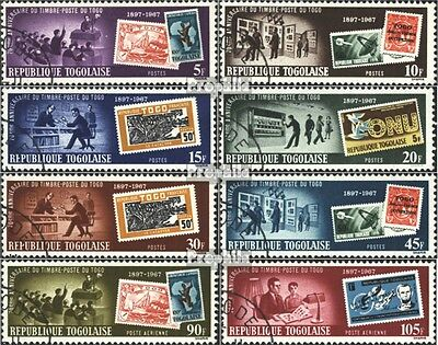 Togo 614A-621A (complete issue) used 1967 70 years Stamps of To