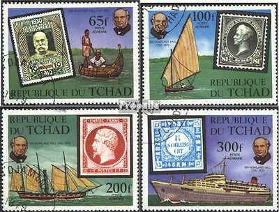 Chad 872-875 (complete issue) used 1979 100. Death of Sir R. Hi