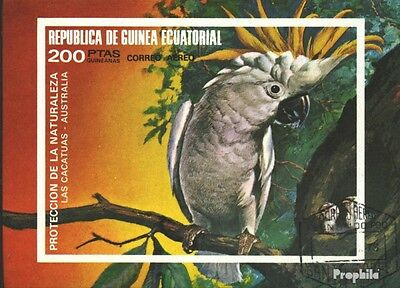 Equatorial-Guinea Block149 (complete issue) used 1974 Birds