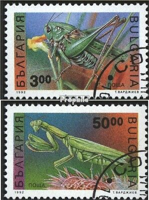 Bulgaria 4016-4017 (complete issue) used 1992 Insects