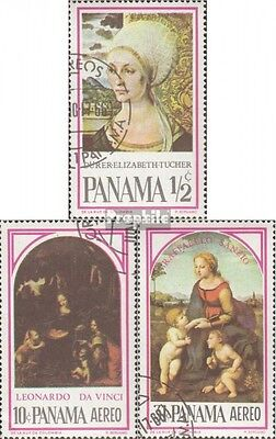 Panama 873-875 (complete issue) used 1966 Paintings