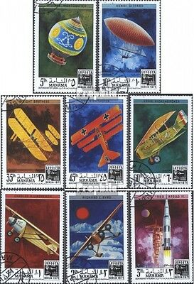 Manama 505A-512A (complete issue) used 1971 LUPOSTA 1971