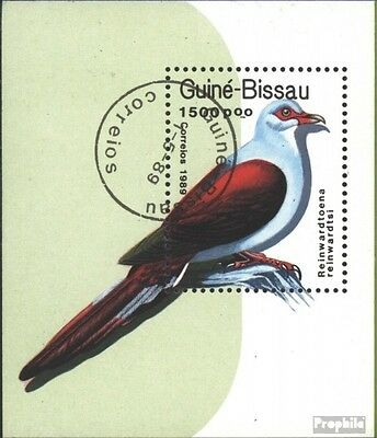 Guinea-Bissau block275 (complete issue) used 1989 Pigeons