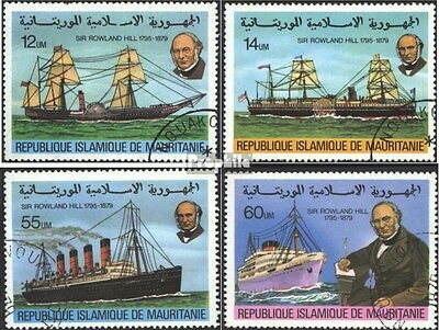Mauritania 636-639 (complete issue) used 1979 100.Death of Sir