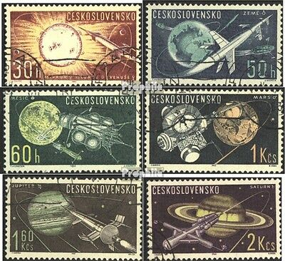 Czechoslovakia 1396-1401 (complete issue) used 1963 Space