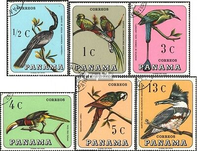 Panama 989-994 (complete issue) used 1967 Locals Birds