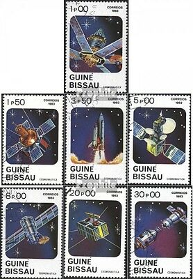 Guinea-Bissau 666-672 (complete issue) used 1983 Space