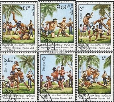 Laos 529-534 (complete issue) used 1982 laotian Martial Arts