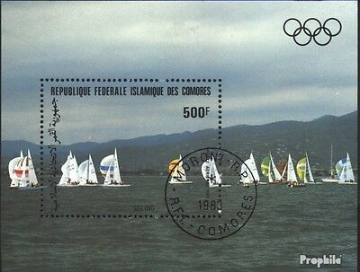 Comoros block235 (complete issue) used 1983 olympic. Summer