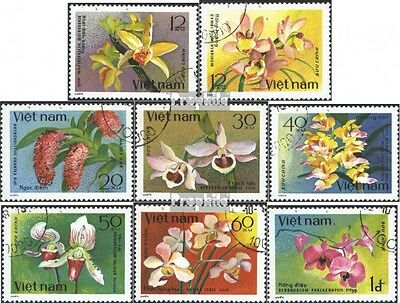 Vietnam 1055-1062 (complete issue) used 1979 Orchids
