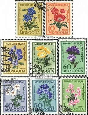 Mongolia 184-191 (complete issue) used 1960 Flowers