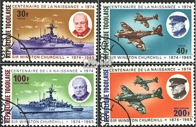 Togo 1074A-1077A (complete issue) used 1974 100. Birthday Sir W