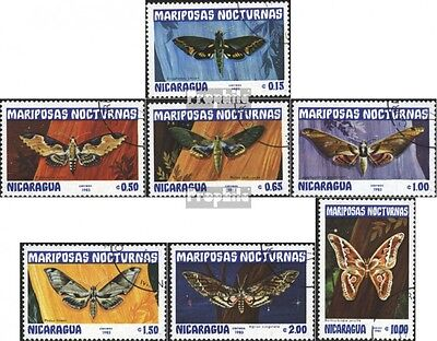 Nicaragua 2376-2382 (complete issue) used 1983 Butterflies