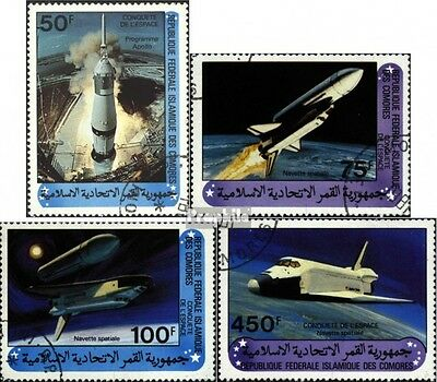 Comoros 625-628 (complete issue) used 1981 Space