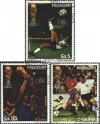Paraguay 3560-3562 (complete issue) used 1982 Football WM ´82,