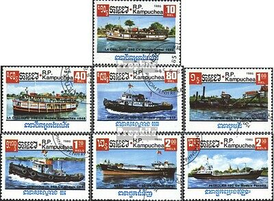 Cambodia 697-703 (complete.issue) used 1985 Vessels