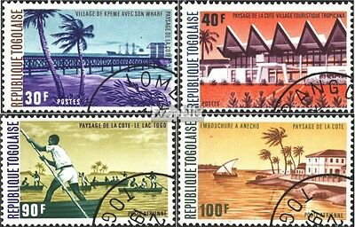 Togo 1031A-1034A (complete issue) used 1974 coastal landscape