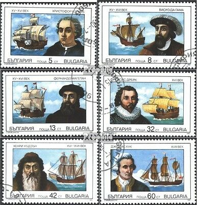 Bulgaria 3814-3819 (complete issue) used 1990 Famous Sailor