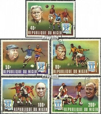 Niger 593-597 (complete issue) used 1977 Football-WM ´78, Argen
