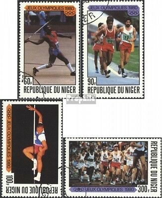 Niger 695-698 (complete issue) used 1980 Summer Olympics Moscow