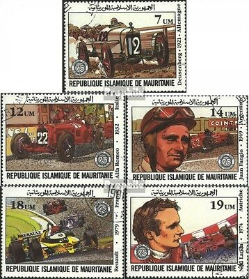 Mauritania 749-753 (complete issue) used 1982 large Price V. Fr