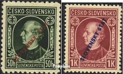 Slovakia 24-25 (complete issue) unmounted mint / never hinged 1939 Pater Hlinka