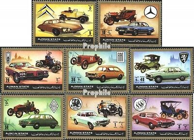 Ajman 1418-1425 (complete issue) used 1972 Automobile once and