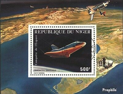 Niger block32 (complete issue) used 1981 Flights of Space Shutt