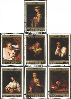 Mongolia 1398-1404 (complete issue) used 1981 Rembrandt
