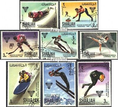 Sharjah 400A-407A (complete issue) used 1968 olympic. Winter Ga