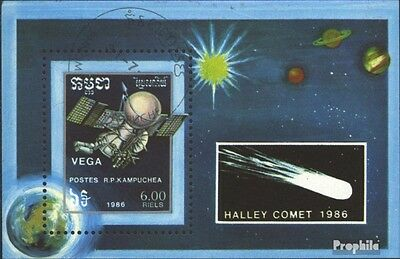 Cambodia block148 (complete issue) used 1986 Halley Comet