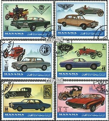 Manama 946-951 (complete issue) used 1972 Automobile