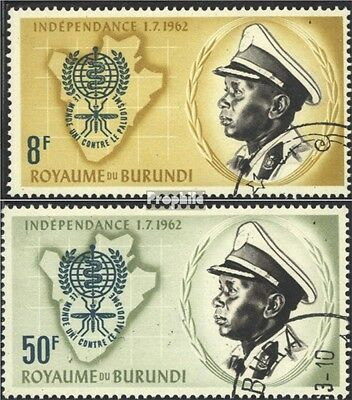 Burundi 40A-41A (complete issue) used 1962 Fight against the Ma