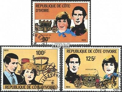 The Ivory Coast 688-690 (complete issue) used 1981 Wedding Prin