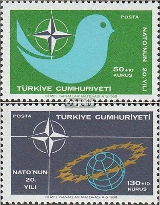Turkey 2120-2121 (complete issue) unmounted mint / never hinged 1969 20 years NA