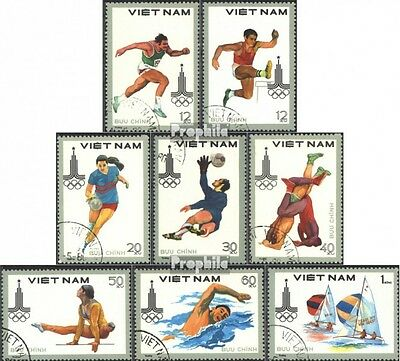 Vietnam 1093-1100 (complete issue) used 1980 olympic. Summer, M