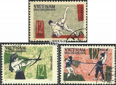 Vietnam 438-440 (complete issue) used 1966 National Sports Game