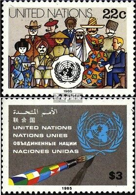 UN-New York 468-469 (complete issue) unmounted mint / never hinged 1985 clear br