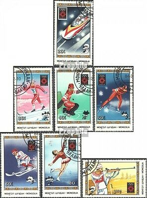 Mongolia 1600-1606 (complete issue) used 1984 olympic. Winter G