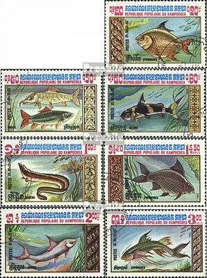 Cambodia 523-529 (complete.issue) used 1983 Fish